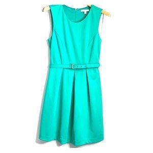 BANANA REPUBLIC • A-Line Green Pleated Dress 6P